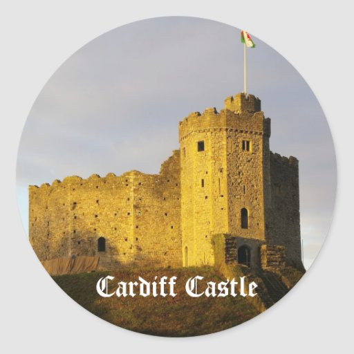 Castle at Sunset Round Stickers