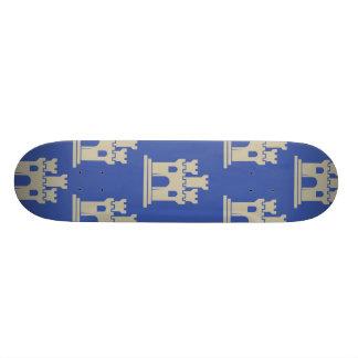 Castle blue grey custom skateboard