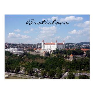 castle bratislava view postcard