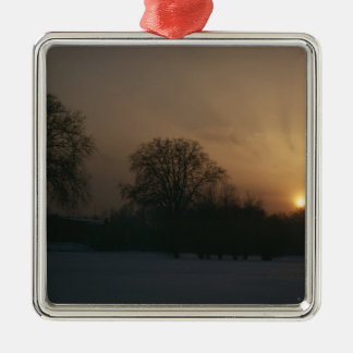 Castle Charlottenhof, Sunset Christmas Ornament
