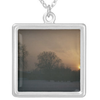 Castle Charlottenhof, Sunset Silver Plated Necklace