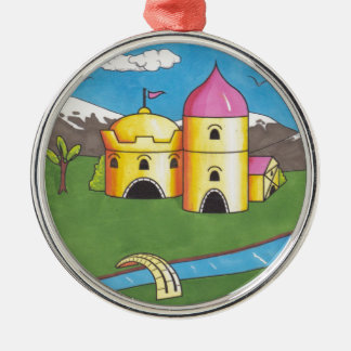 Castle Christmas Ornament