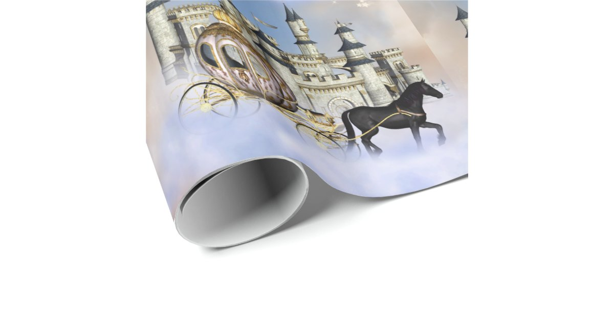 Castle Clouds Fairy Tale Wrapping Paper | Zazzle