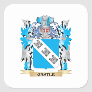 Castle Coat of Arms - Family Crest Stickers