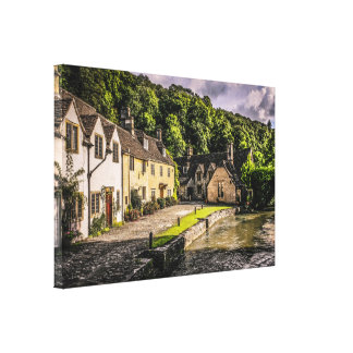 Castle Combe village in England Canvas Print