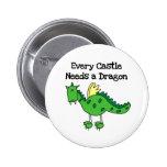 Castle Dragon Pinback Buttons