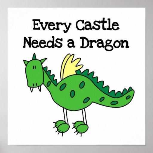 Castle Dragon Poster