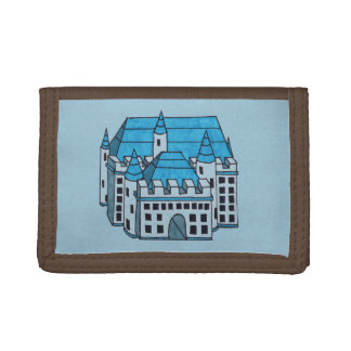 Castle Drawing Tri-fold Wallet
