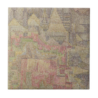 Castle Garden by Paul Klee Small Square Tile