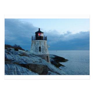 Castle Hill Lighthouse- Newport, RI card Postcard