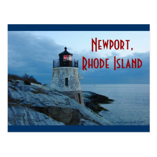 Castle Hill Lighthouse- Newport, RI postcard