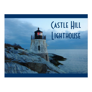 Castle Hill Lighthouse- Newport, RI postcard