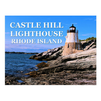 Castle Hill Lighthouse, Rhode Island Postcard