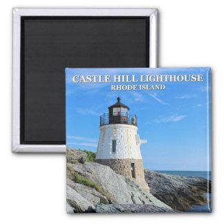 Castle Hill Lighthouse, Rhode Island Square Magnet