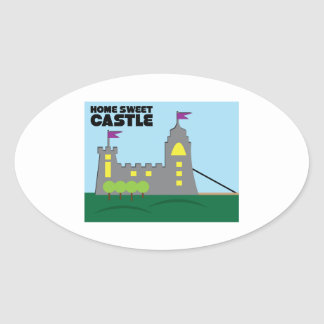 Castle Home Oval Stickers