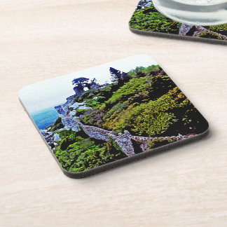Castle in Sintra Portugal Beverage Coaster
