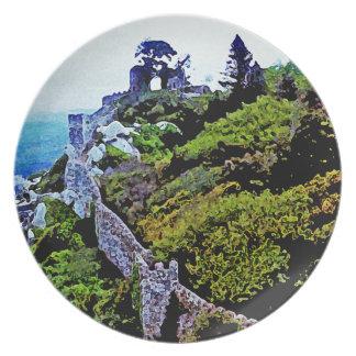 Castle in Sintra Portugal Dinner Plate