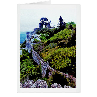 Castle in Sintra Portugal Note Card