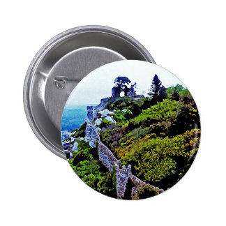 Castle in Sintra Portugal Pinback Buttons
