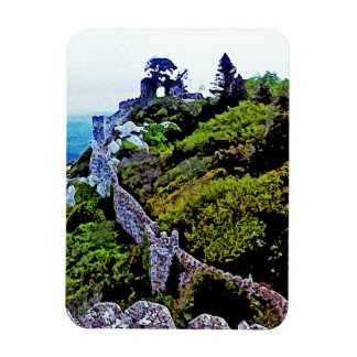 Castle in Sintra Portugal Rectangle Magnet