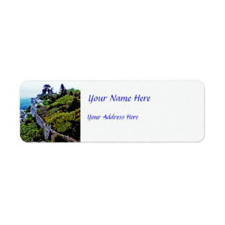 Castle in Sintra Portugal Return Address Label
