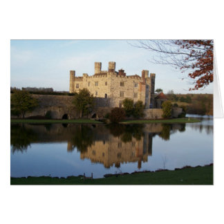 Castle in the moat card