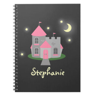 Castle in the Stars Personalized Spiral Notebook