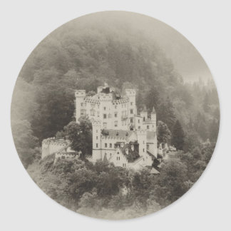 Castle In The Trees Round Sticker