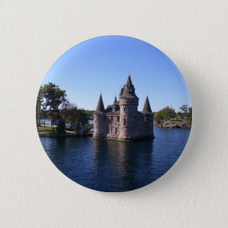 Castle in water 6 cm round badge