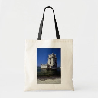Castle in water, Lisbon, Portugal Canvas Bag