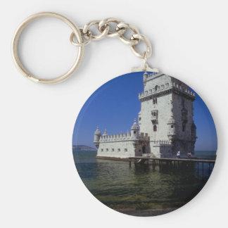Castle in water, Lisbon, Portugal Key Chains