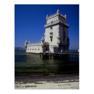 Castle in water, Lisbon, Portugal Postcards