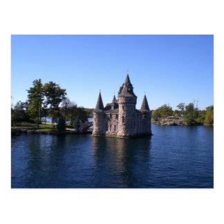 Castle in water postcard