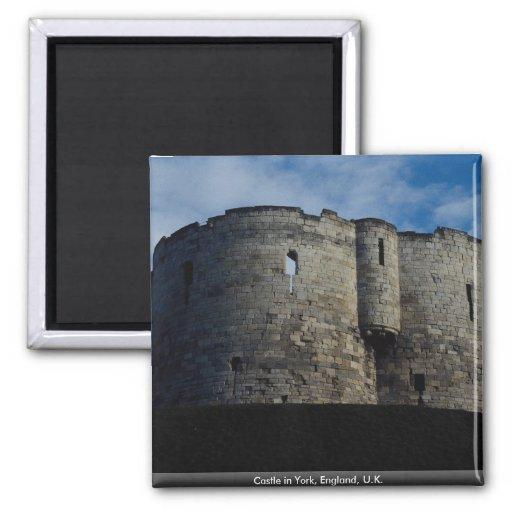 Castle in York, England, U.K. Fridge Magnet