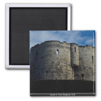 Castle in York, England, U.K. Square Magnet