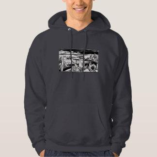 Castle Landscape Hooded Sweatshirts