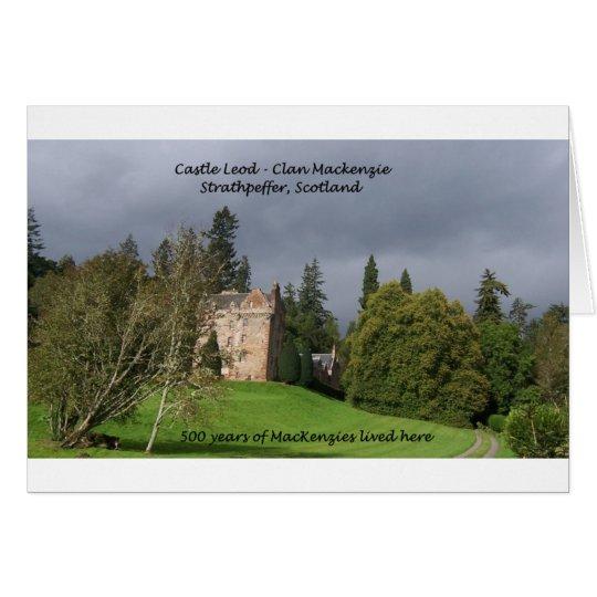 CASTLE LEOD - Scotland MacKenzie Clan Card