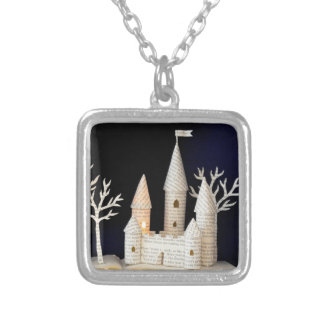 Castle light box 2013 silver plated necklace