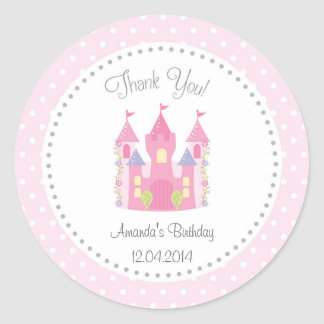 Castle Little Princess Birthday Sticker