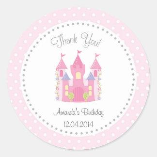 Castle Little Princess Birthday Sticker