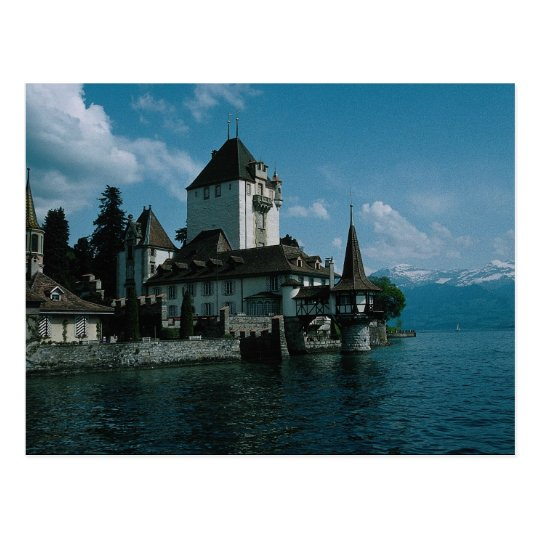 Castle Oberhofen, Lake Thun, Switzerland Postcard