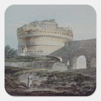 Castle of San Angelo, Rome Square Sticker