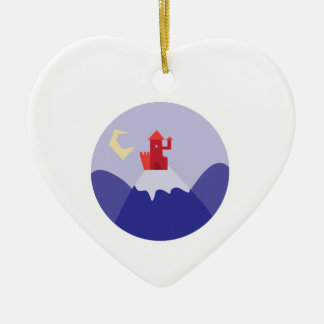 Castle On Hill Christmas Ornament