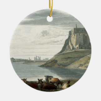 Castle on Holy Island, Northumberland, from 'A Voy Round Ceramic Decoration
