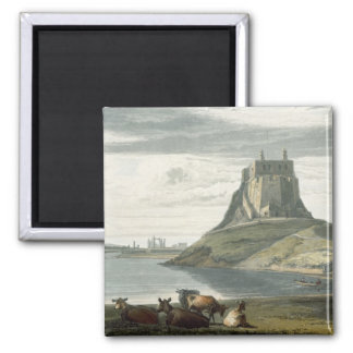 Castle on Holy Island, Northumberland, from 'A Voy Square Magnet