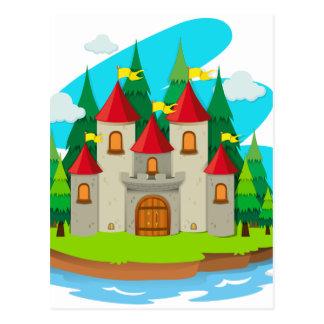 Castle on the island postcard
