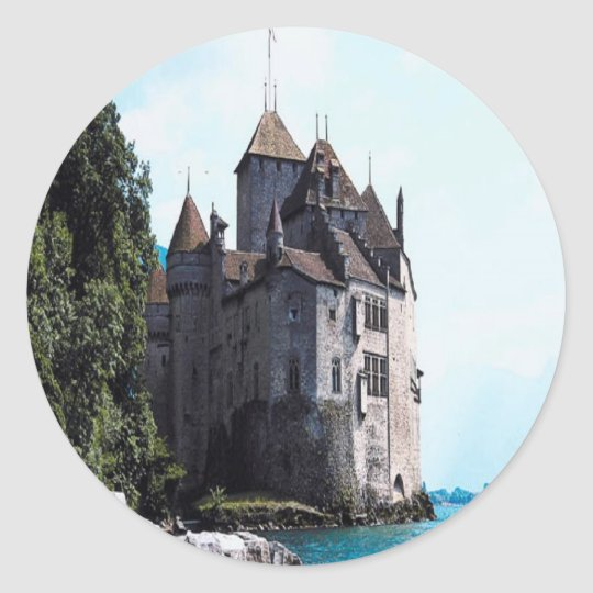 castle on the water sticker