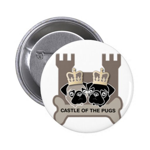 castle or the pugs button with logo