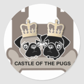 castle or the pugs sticker transparent