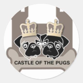 castle or the pugs sticker transparent